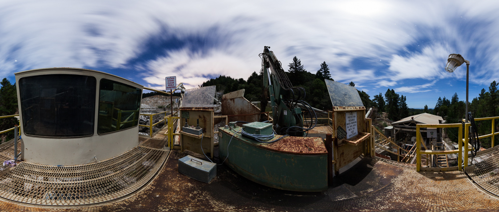 360 Night Panorama: Stand Clear While Dumping