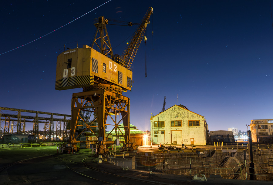 Mare Island crane D3 and dry dock
