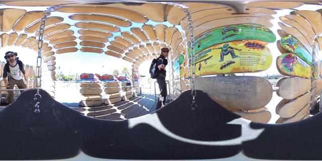 360 panorama skateboarding outside the Exploratorium