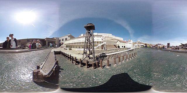 Alcatraz scale model along the Embarcadero