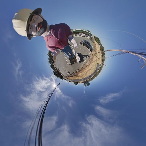 Muffler Man HDR 360 Pole Panorama