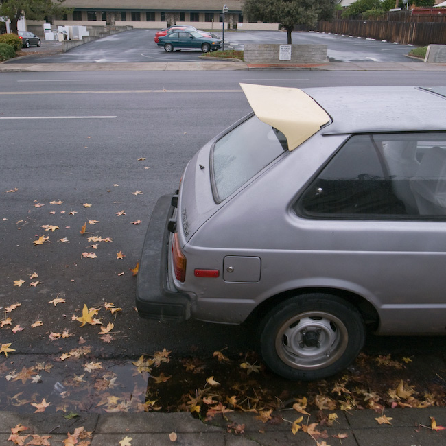 So I fired up the car and drove slowly through the damp streets of Fall.