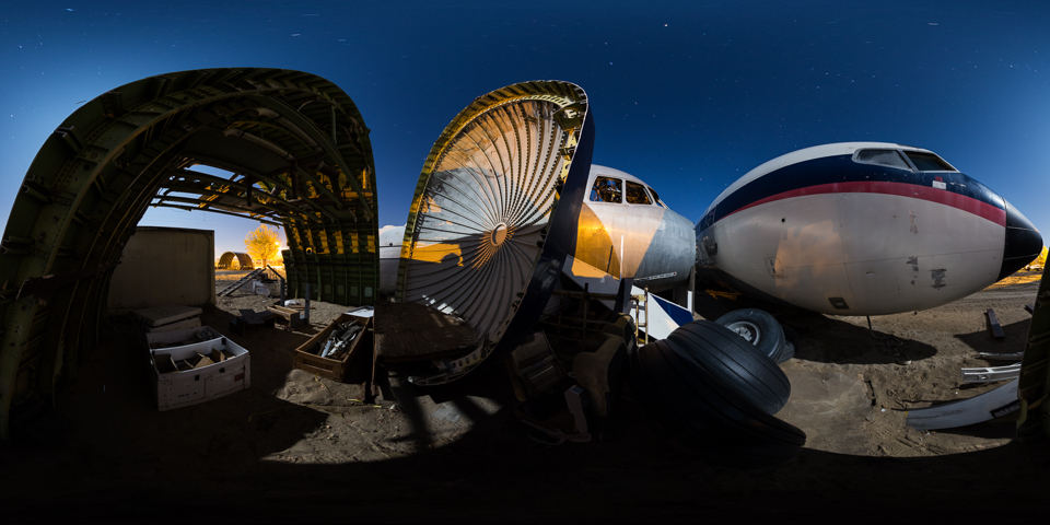 Airplane Boneyard - Take a night tour of this amazing Mojave Desert facility that does airplane mockups and crash simulations for Hollywood.