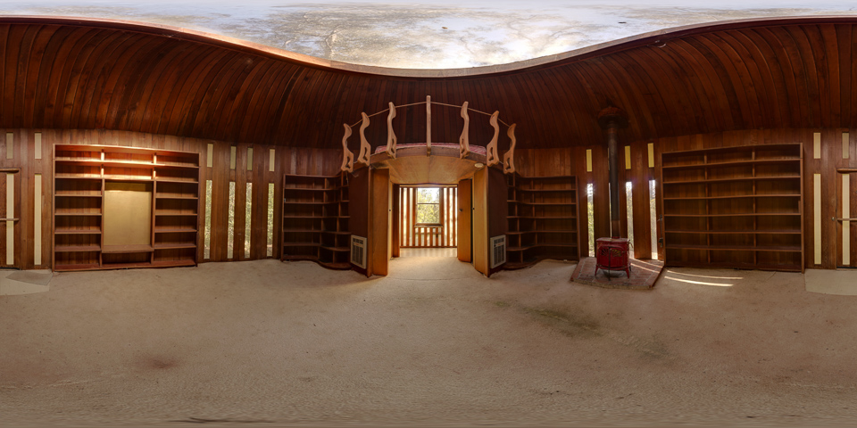 Library in the Woods - A smallabandoned private library in Marin County.