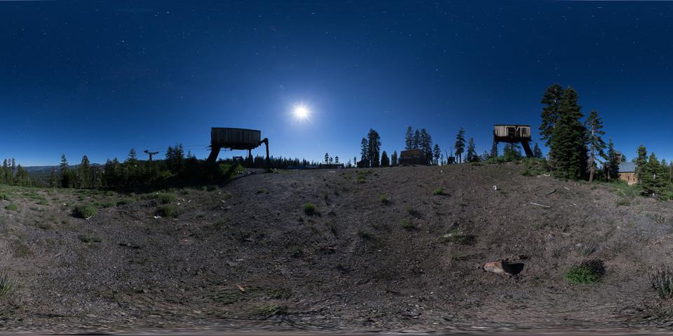 Iron Mountain - Tour an abandoned Lake Tahoe ski resort under a full moon