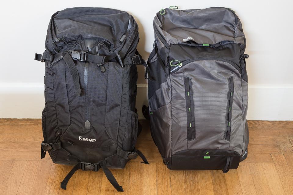 f-stop Loka and MindShift Gear Rotation 180 Horizon photography backpacks