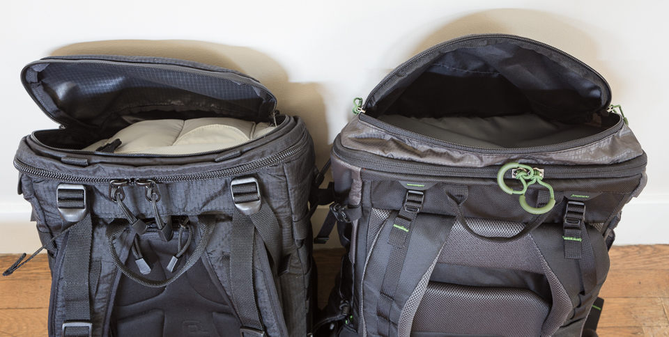 The Loka has two small pouches inside the top pocket