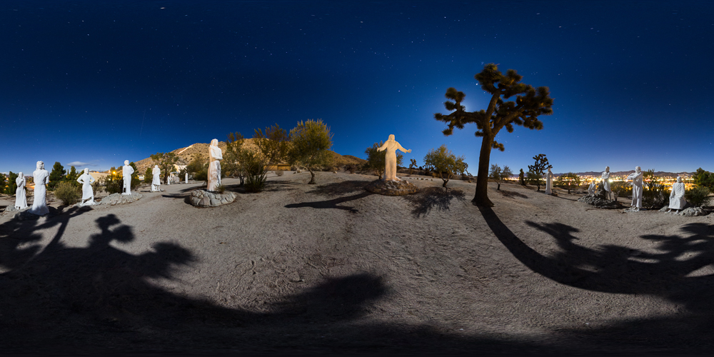 Desert Christ Park - Statues depict the Sermon on the Mount in this park near Joshua Tree.