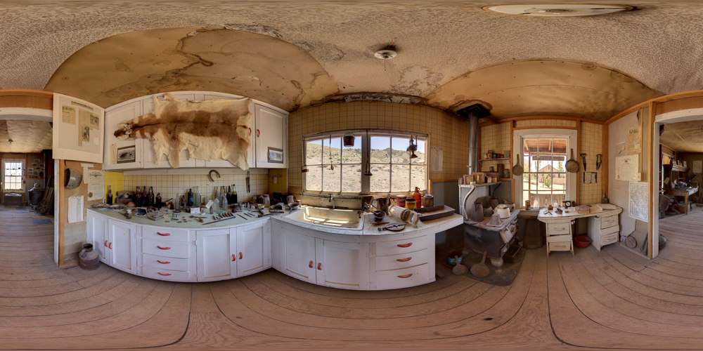 Berlin Nevada Ghost Town - inside the mine supervisor's house at Berlin Ichthyosaur State Park.