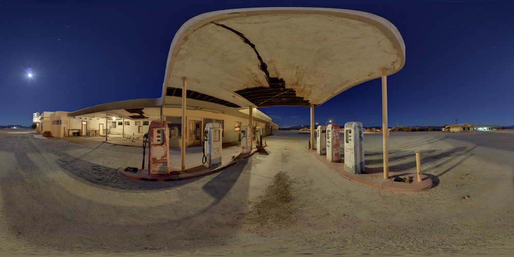 Desert Center Gas Station -- 360 Night Panorama by Joe Reifer