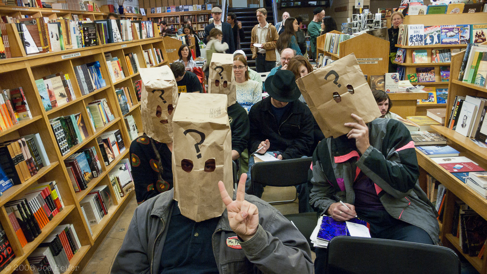 Pynchon Trivia Contest with Simpsons Inspired Question Mark Masks -- by Joe Reifer
