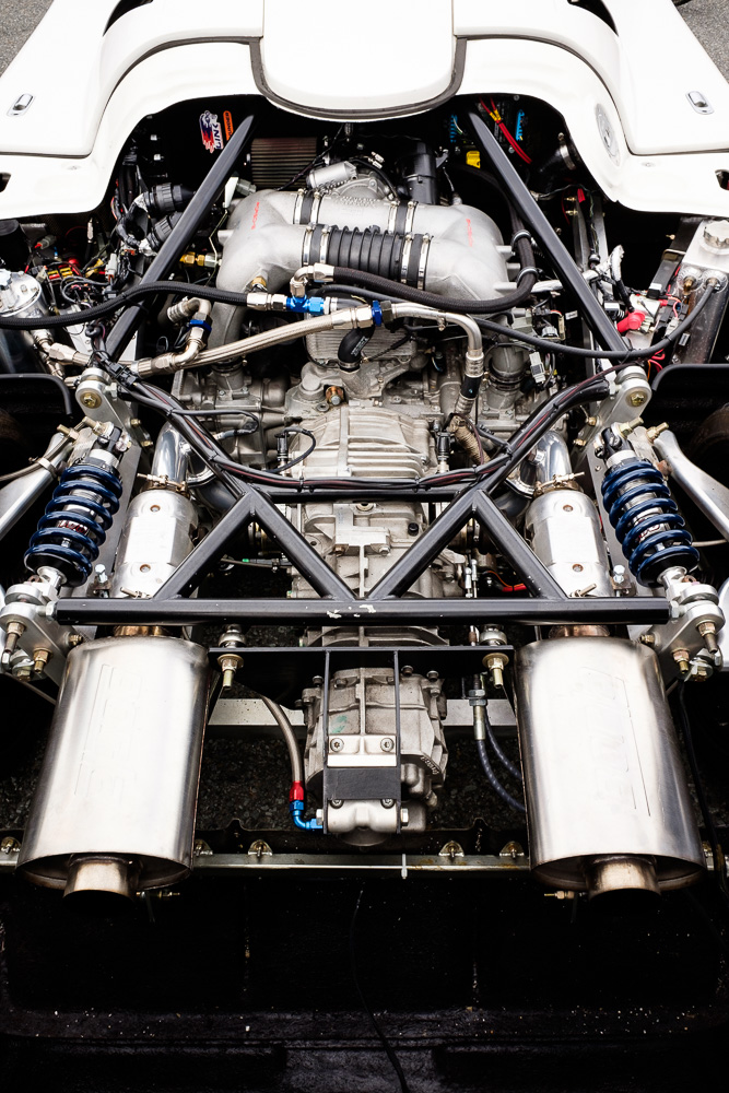 Porsche kit car engine bay.