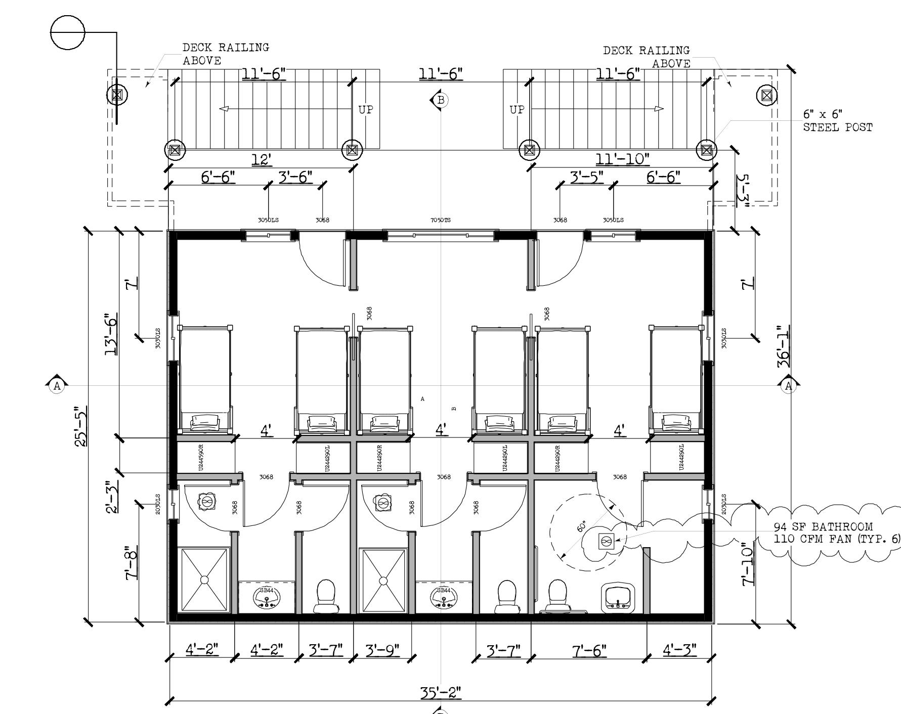 Pali Cabin (6' deck) dorm 3rd. floor Baackup