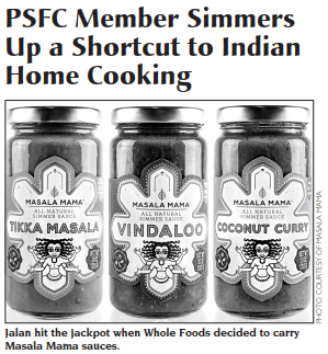 Masala Mama featured in the    Linewaiters' Gazette   , the official newspaper of the Park Slope Food Coop.