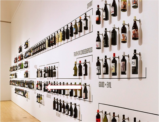 Inkwell bottle displayed in the San Francisco Museum of Modern Art: How Wine Became Modern exhibition