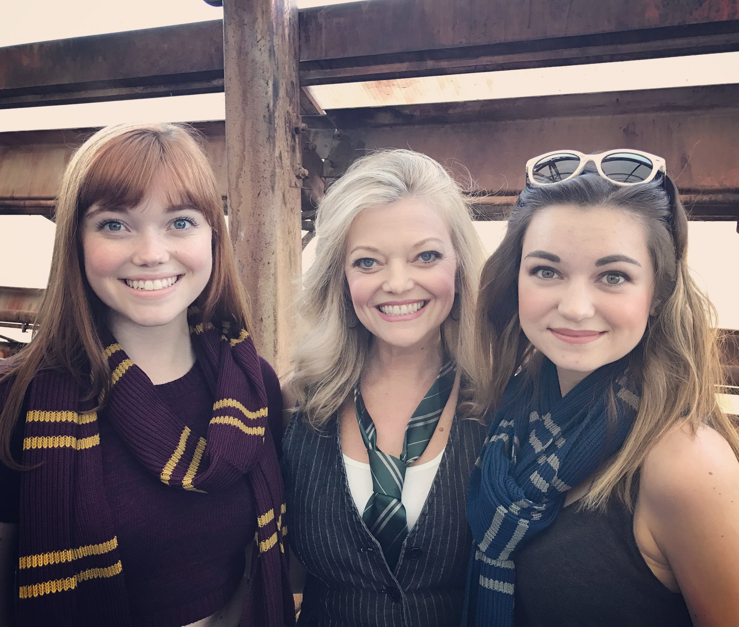 With my favorite Gryffindor and Ravenclaw...