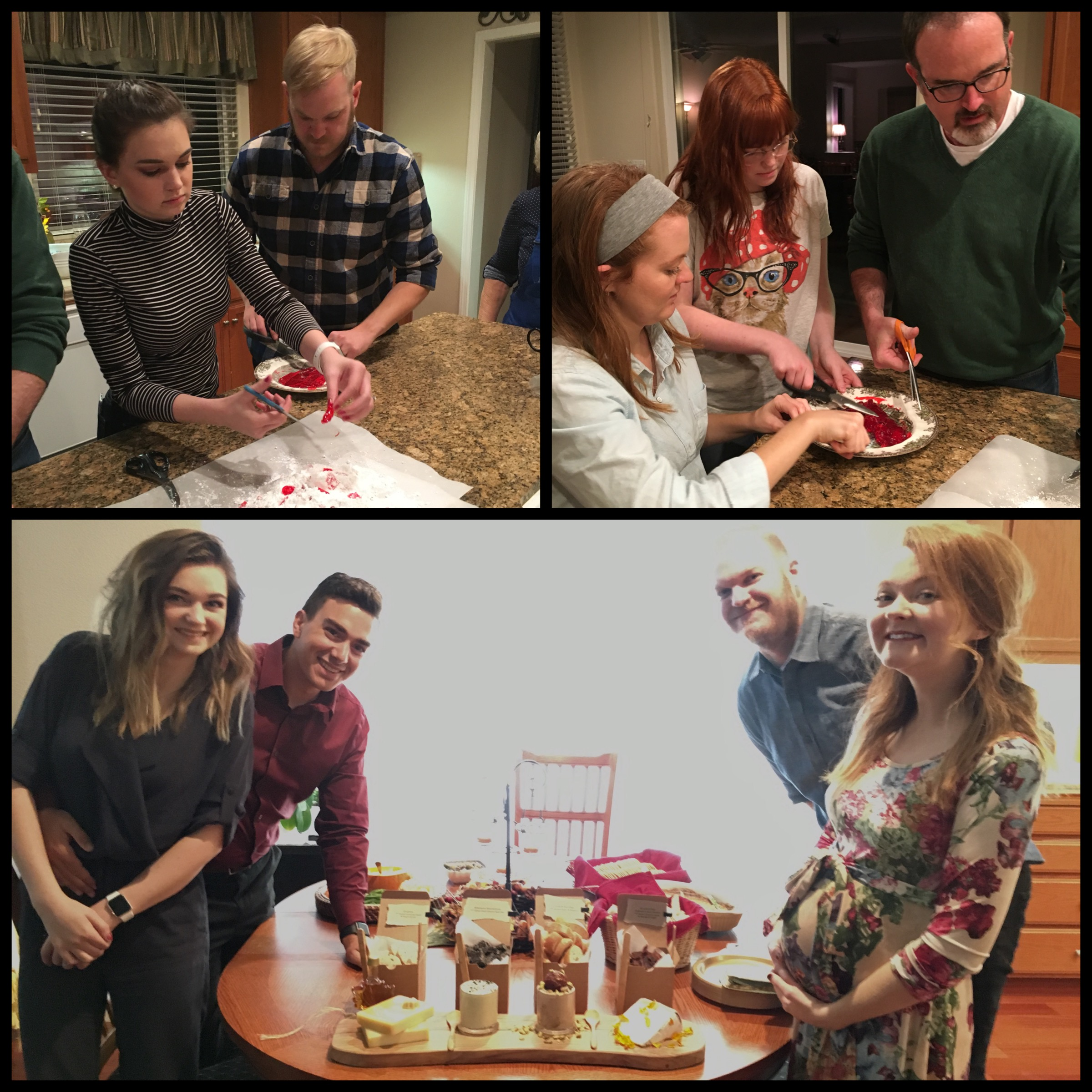 Hand made candy with cousins and the new Doyle beeb bump! Auntie B's cheese tasting. Best traditions!