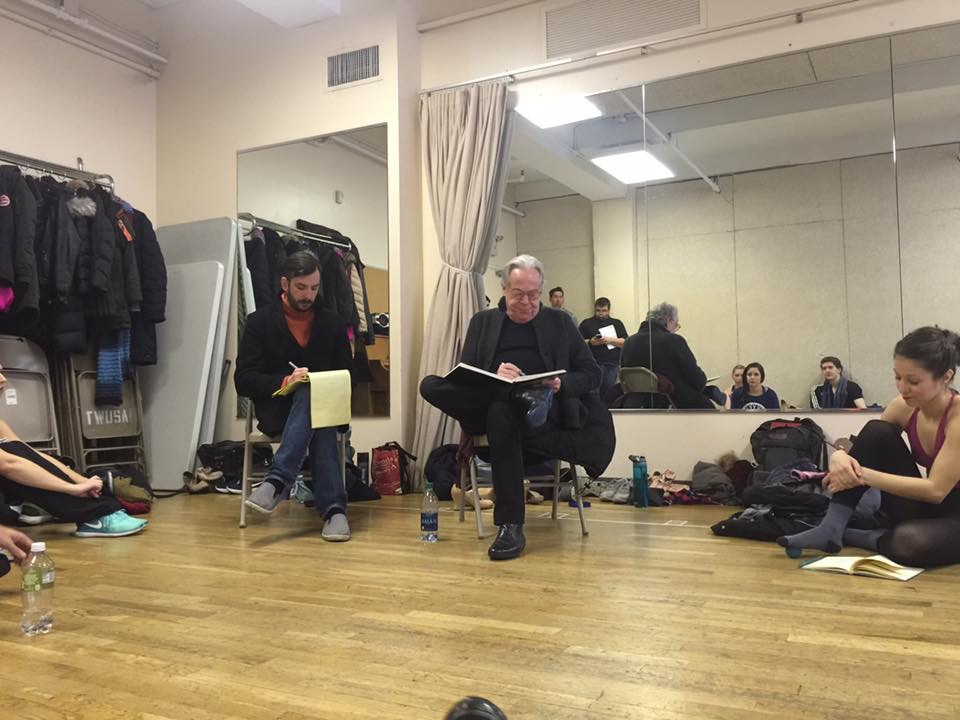 Adam Kidd (director) and Mark Bramble (Writer and Tony revival winner) giving notes after final rehearsal run.