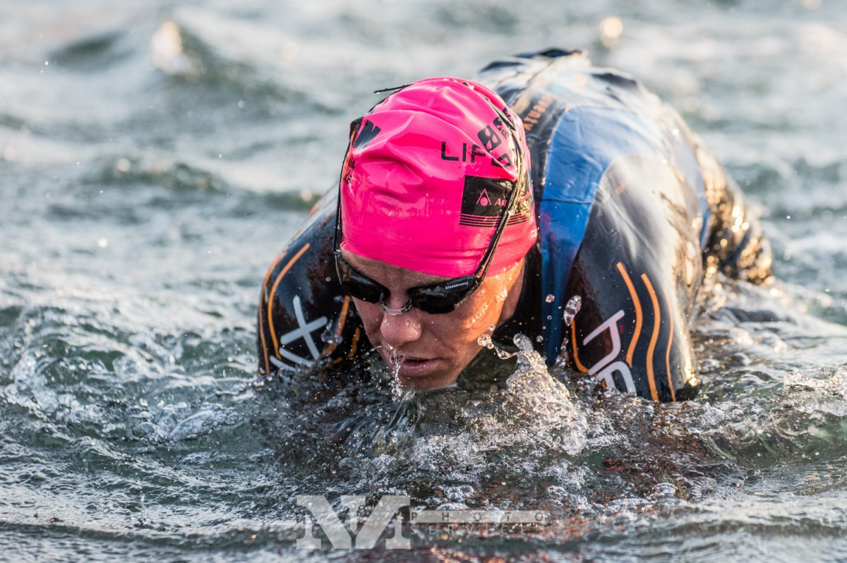 A HUGE thanks to Nils Nilsen for this picture getting out of the water. He got some amazing shots from the race, so check him out