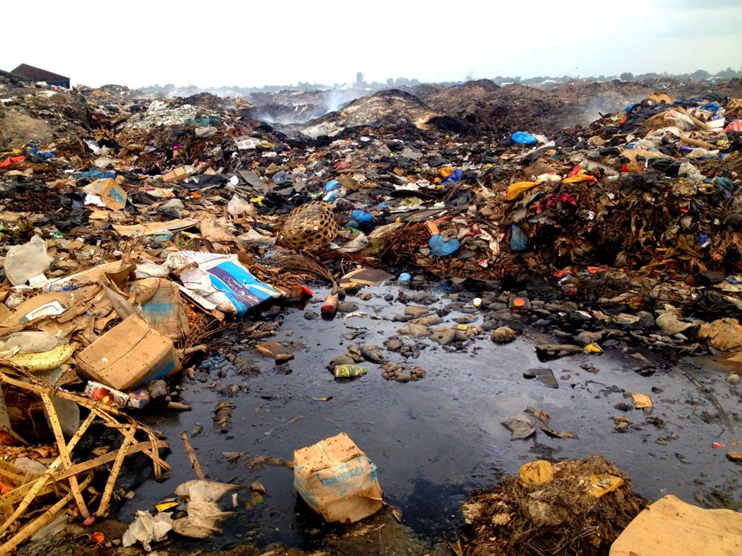Pugu Dumpsite with waste burning