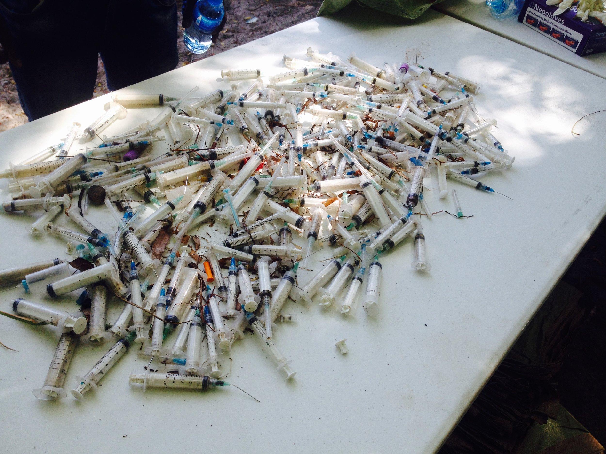 Needles found on Msasani Beach in Dar es Salaam