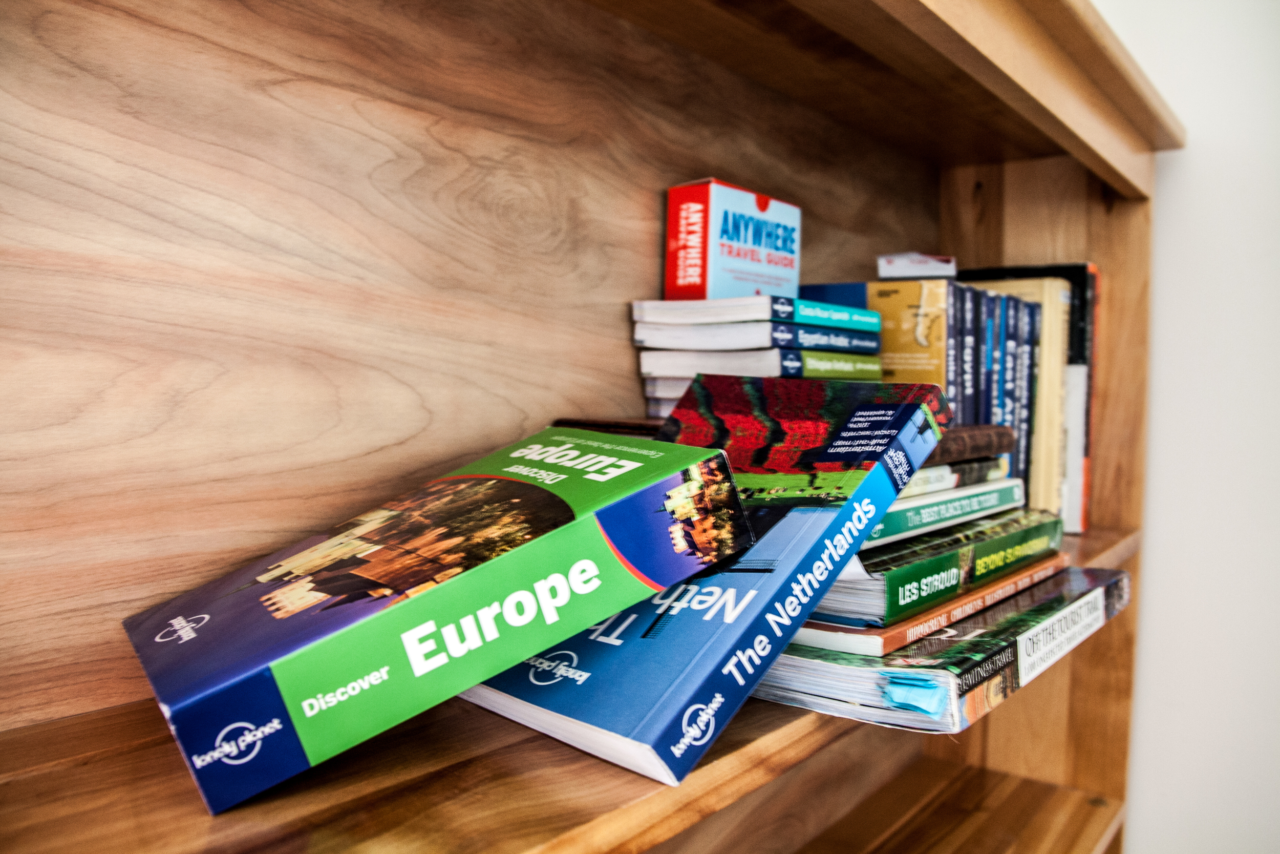 These travel books represent the sum of our fabulousadventuresto-date, and those still to come! Hope,courage and nostalgiaon an otherwise empty shelf...