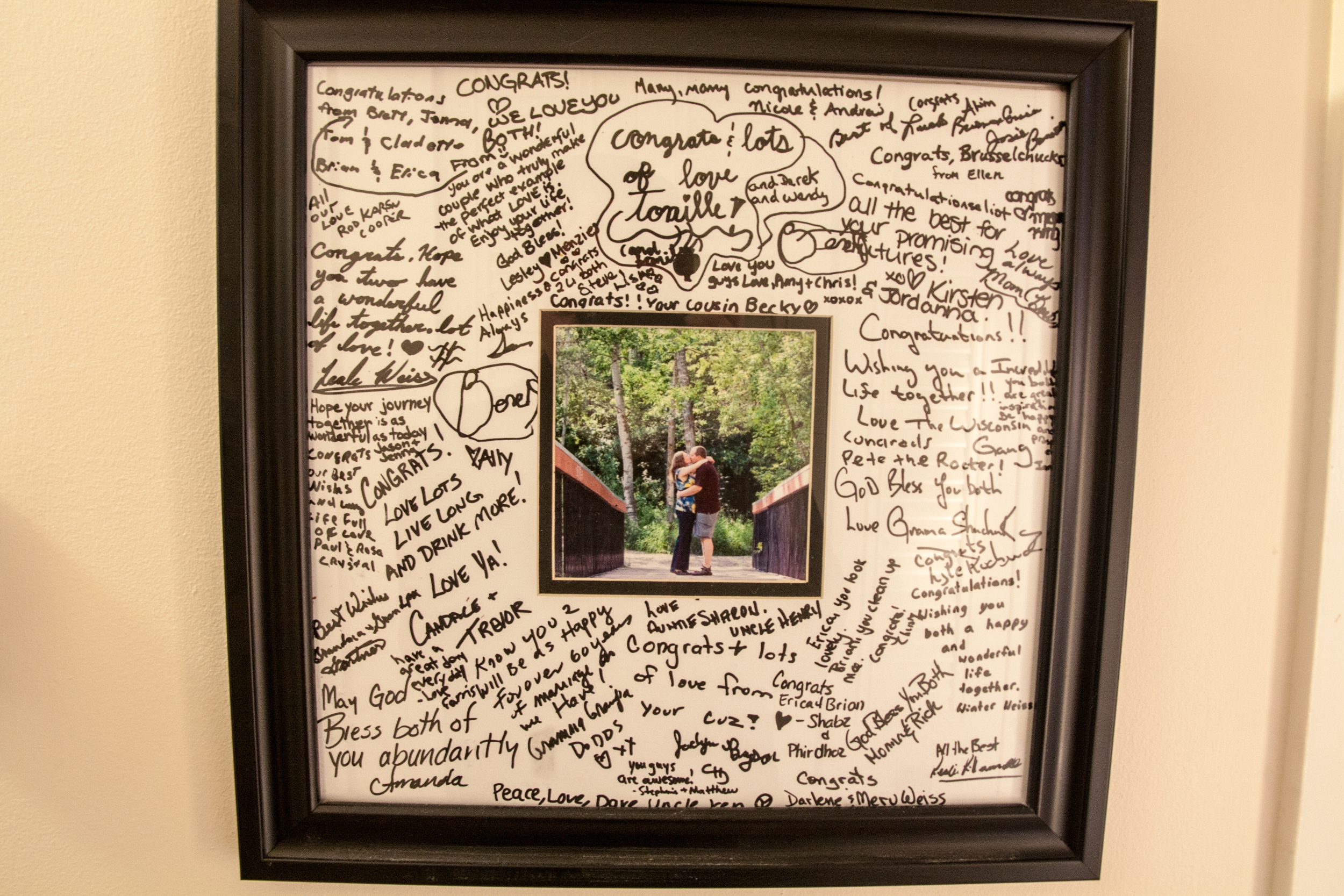 Our wedding guestbook is a mini time capsule of all the people who care about us; it's messy and candid andbeautiful.