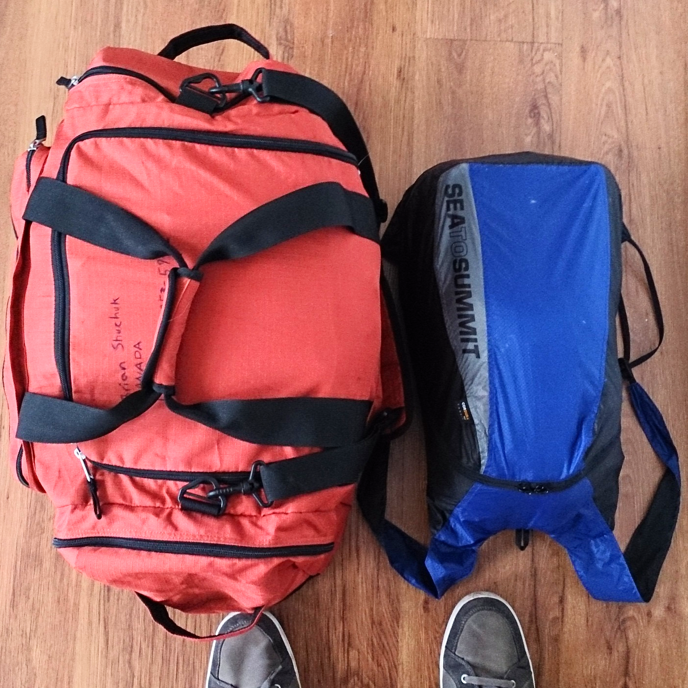 Managed to fit everything in these, then on my bicycle in 2 panniers