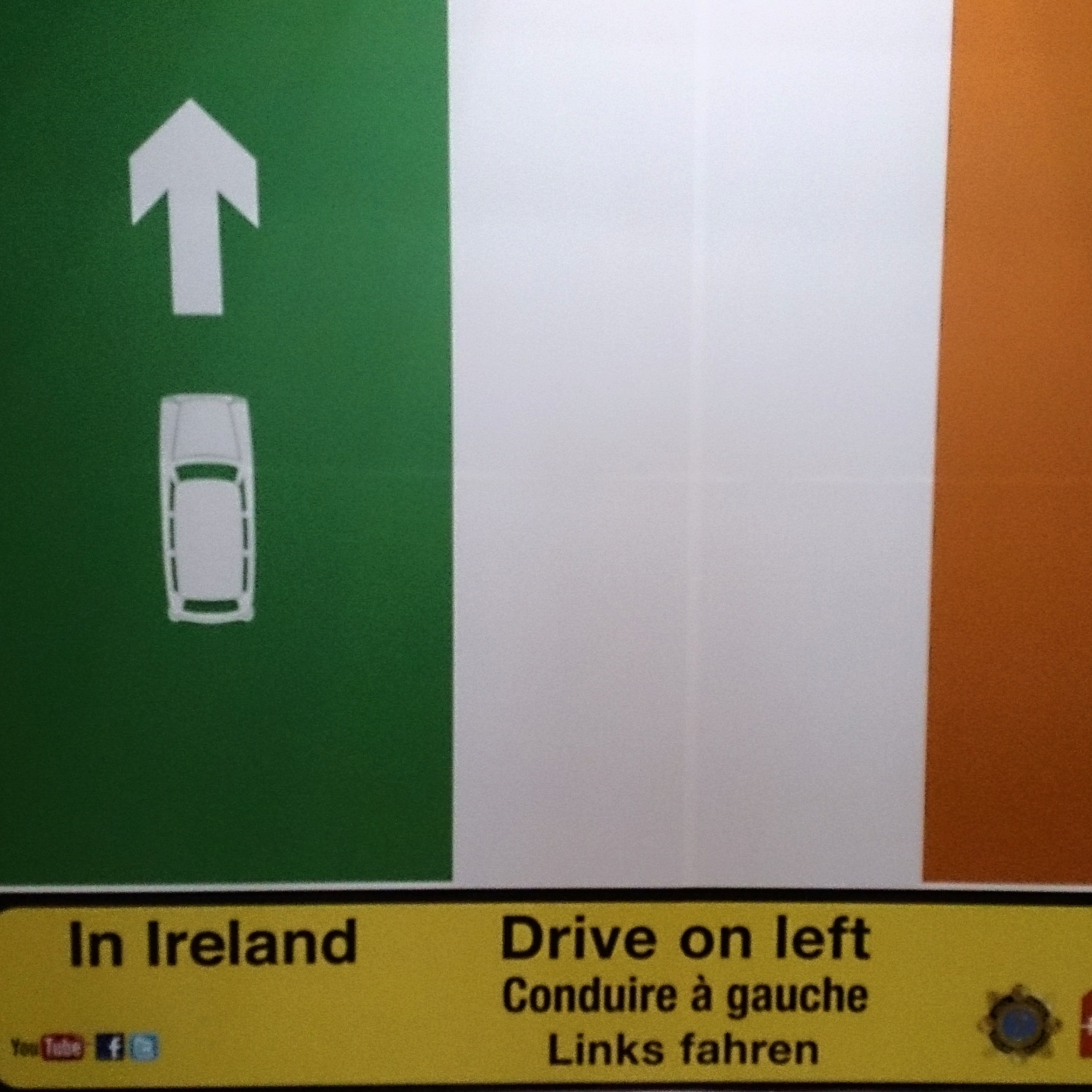 As soon as you get your passport stamped in Ireland you see this
