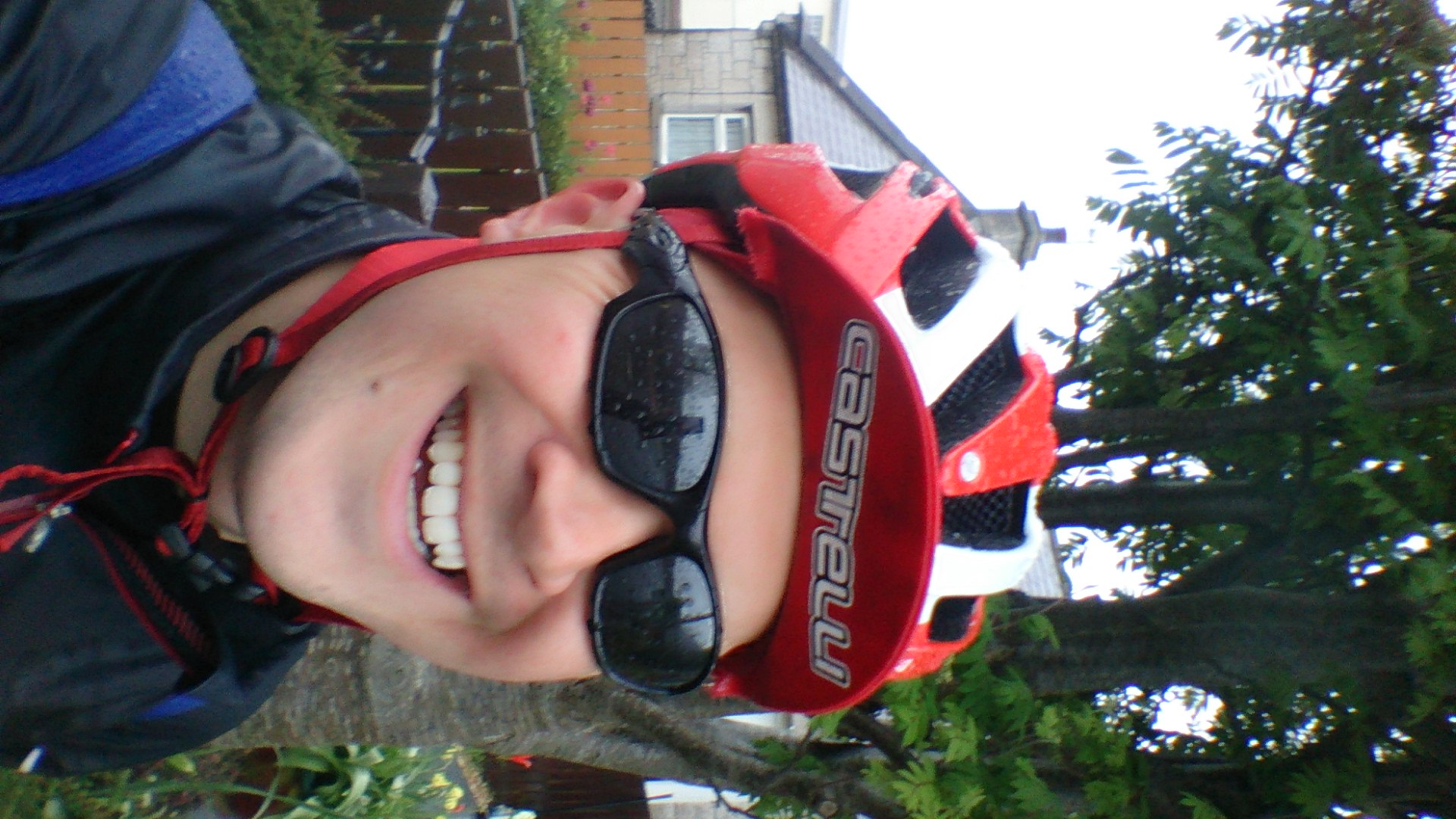 Brilliant ride...but SOAKED! Happy to stop in Armagh for Guinness, Pizza and a warm room!
