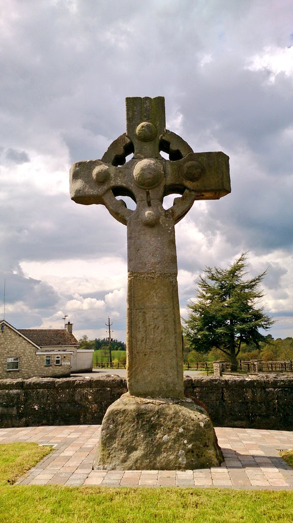An old cross in the village of Tynan