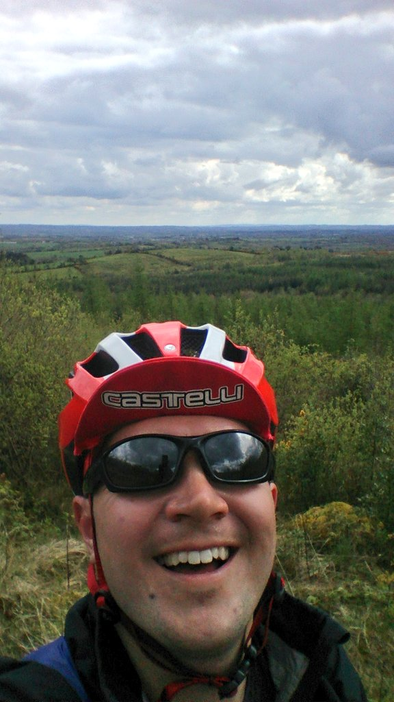 End of hill-climb selfie, my legs eat hills for breakfast...or something...I had a Snickers chocolate bar to celebrate!
