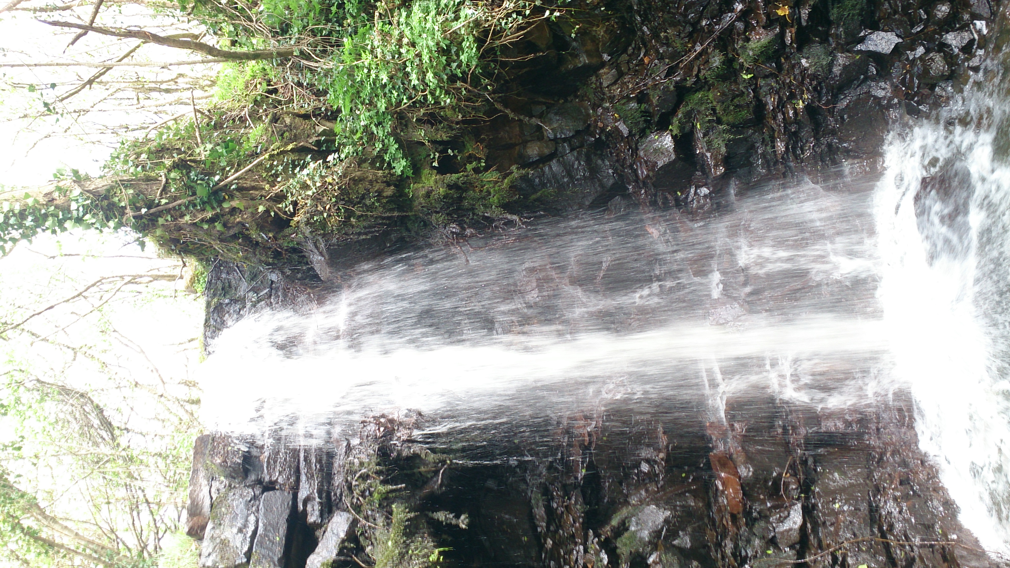 Lots of rain from previous days made this an exciting waterfall