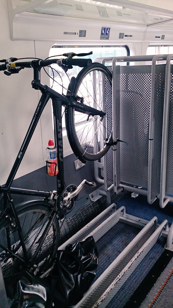 Each train has two bicycle spaces and I booked this one in advance.