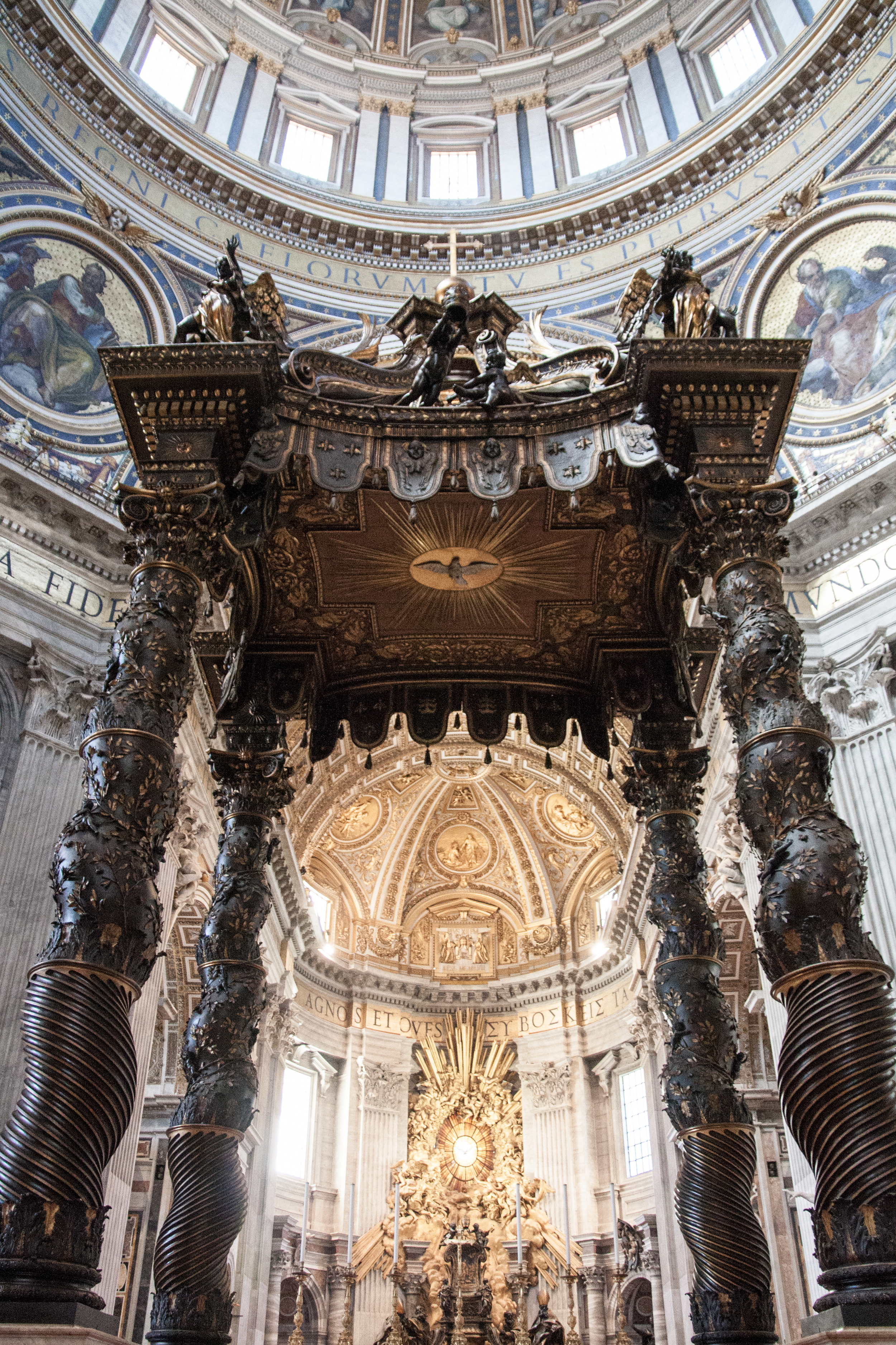 St. Peter's Canopy and Monument of the Cathedra of St. Peter