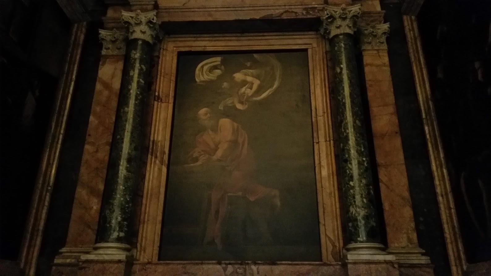 The Inspiration of Saint Matthew  (Carravaggio)