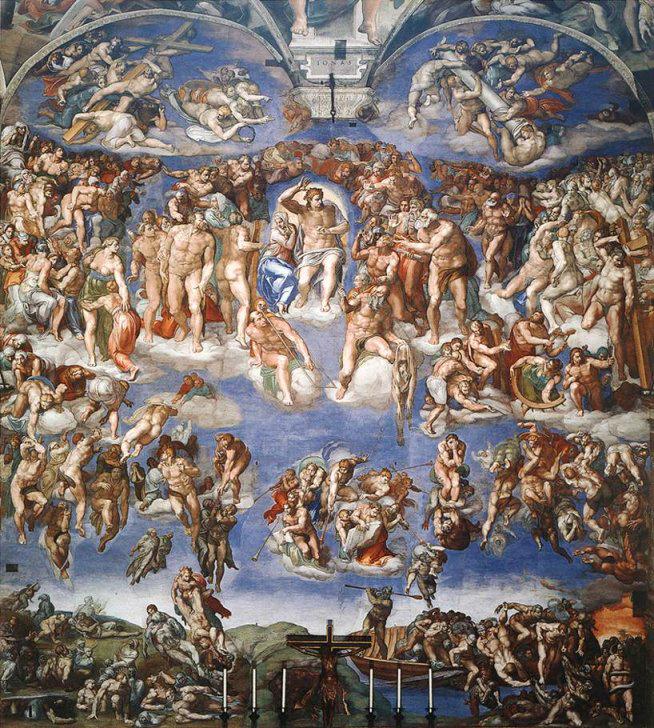 The Last Judgement  (Michelangelo) Photo credit:  Wikipedia Commons