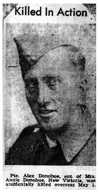 Private Alex Joseph Donohue