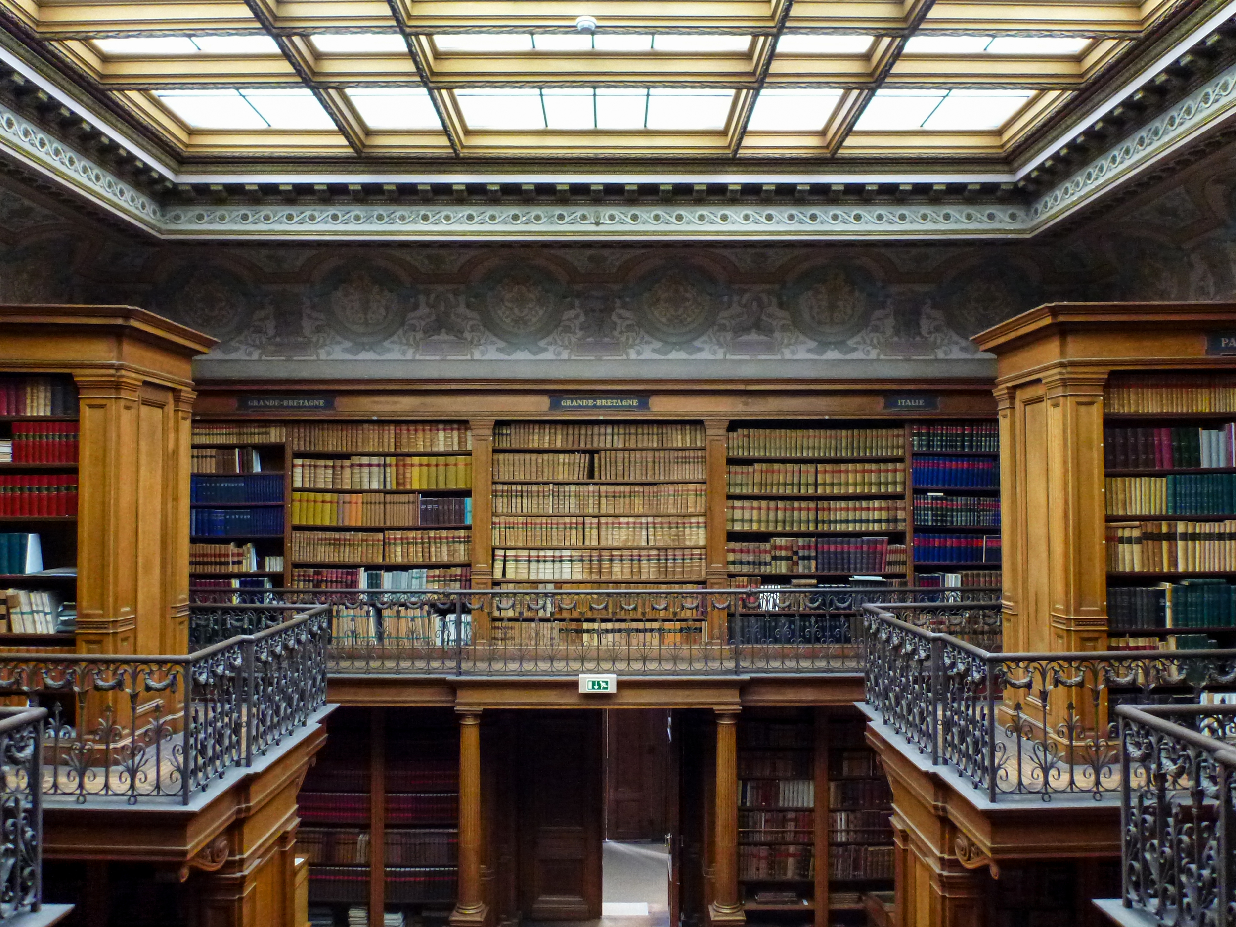 Teylers Museum Library, Second Level  Normally off-limits to the public, the books on the second level are not protected behind barriers.
