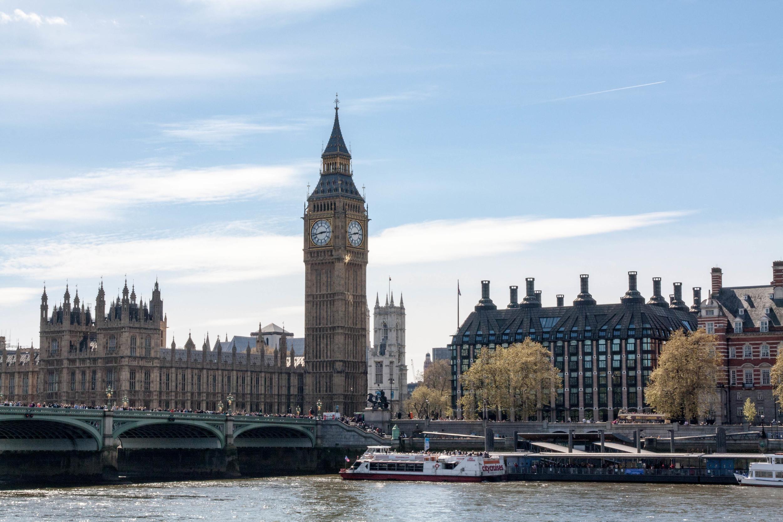 Big Ben across the Thames