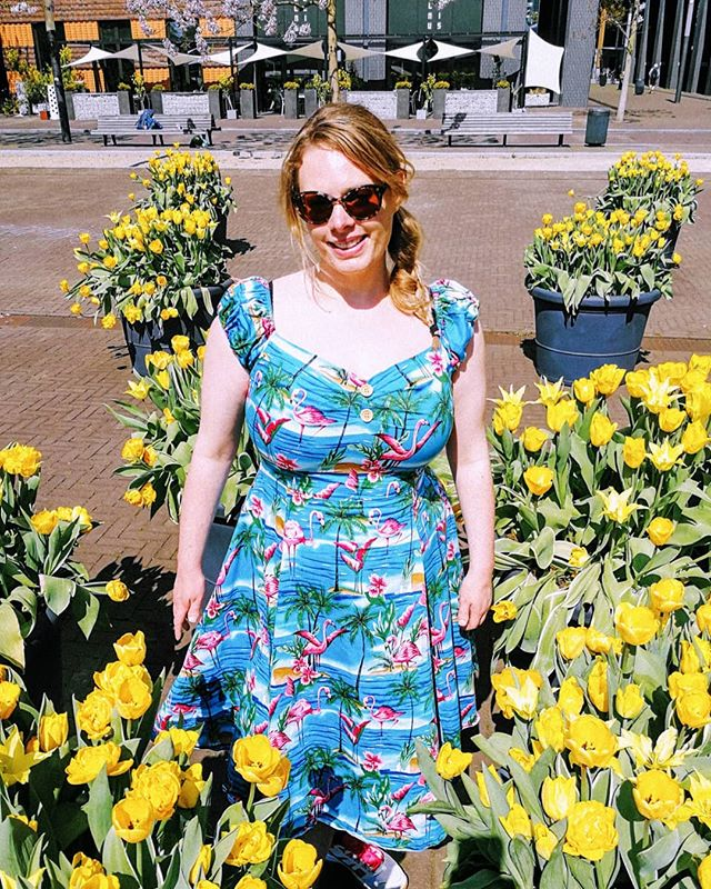 It's finally time for that lovely spring milestone: Rokjesdag! I can wear my dresses without tights :) Go straight to the short post on our blog via the link in our bio.  If you haven't made it to this milestone yet where you are, don't worry, spring is just around the corner.  #rokjesdag #amsterdam #Netherlands #WeAdventureTogether