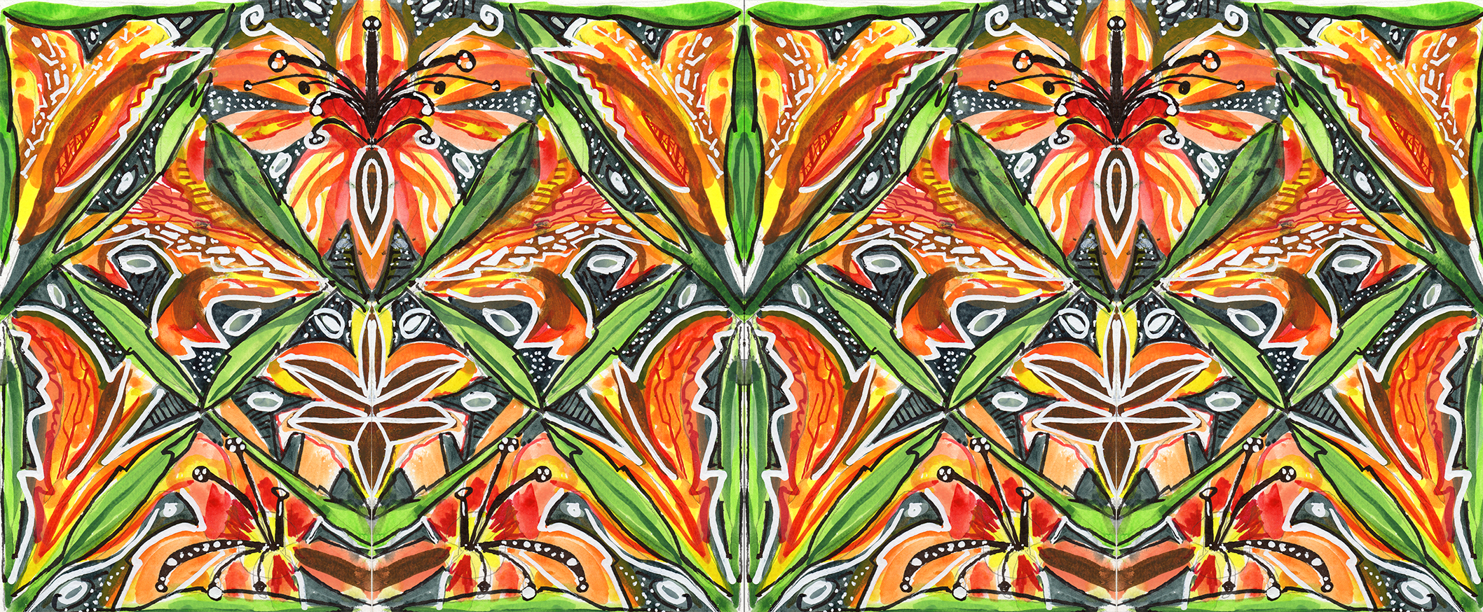 Tiger Lily Scarf