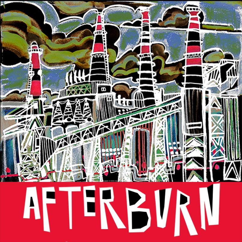 """Afterburn"" Book Cover Design"