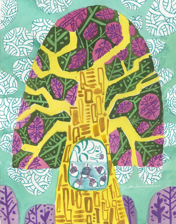 The Oak Tree in Spring