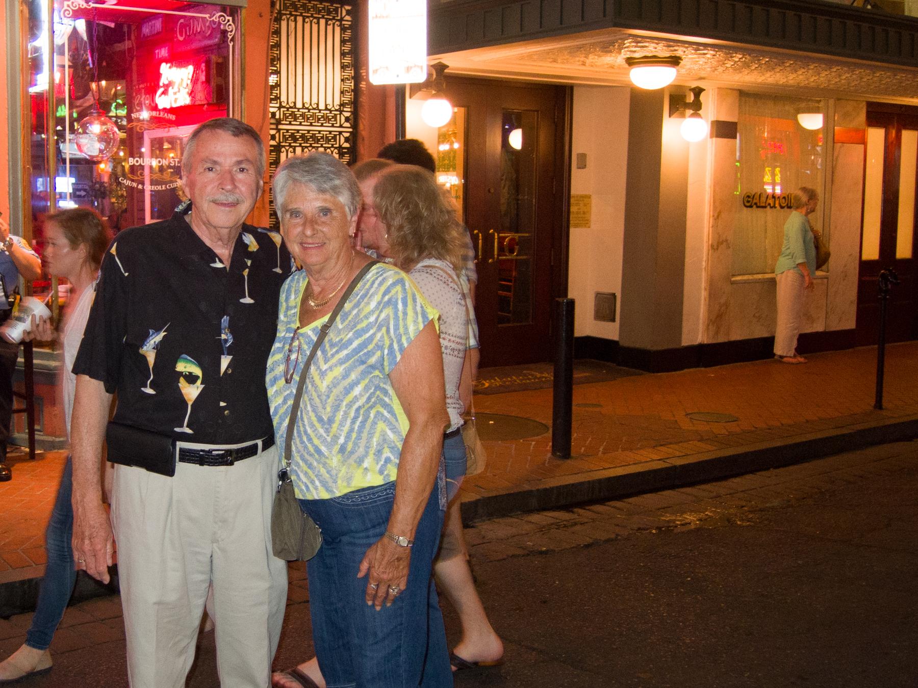Tom and Paula Pace on Bourbon Street