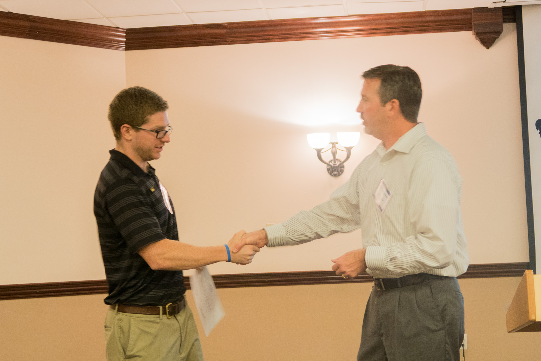 Scott Hacker, receiving 2nd Place - Student Activities