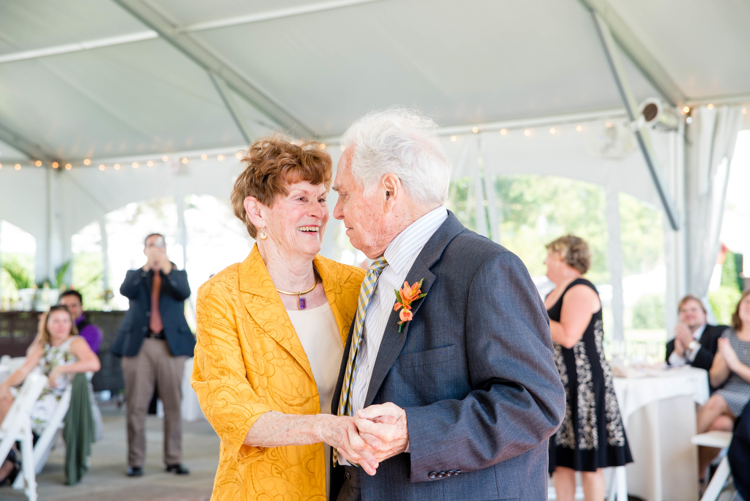Ok, so these are Kelsey's grandparents. They were the last couple dancing for the anniversary dance.  Please excuse the amount of picture of them I'm about to post. I just can't help myself. They are the cutest.