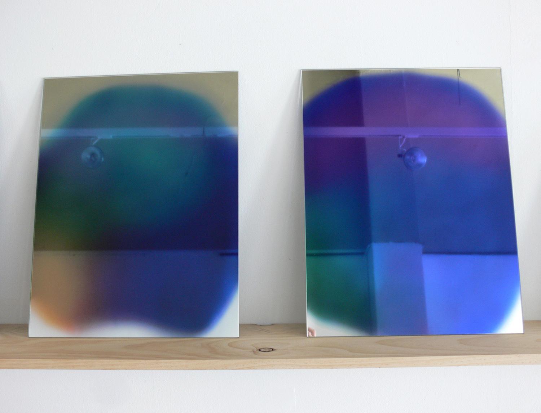 ECF (Entropic Colour Field) 3-4 (2012), opticlear print of Aura photo on mirror, 21 x 16 inches