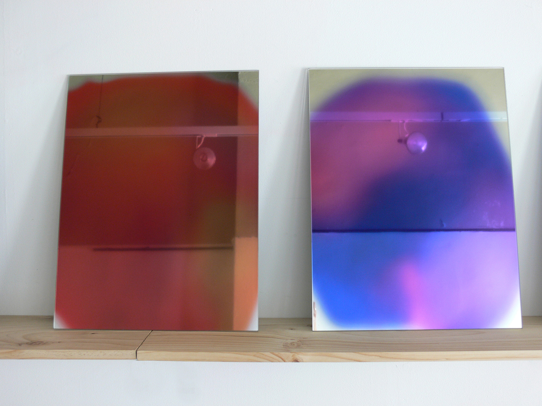 ECF (Entropic Colour Field) 5-6 (2012), opticlear print of Aura photo on mirror, 21 x 16 inches