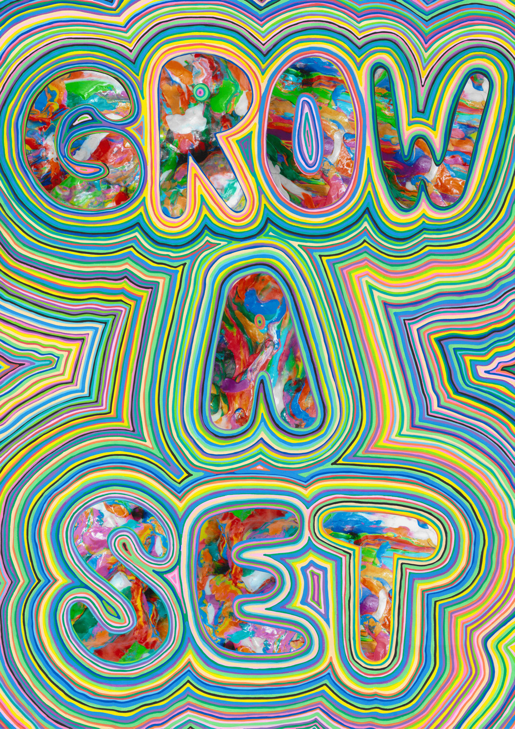 Grow A Set (2012), photo and acrylic on paper, 59.4 x 42 cm